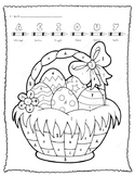 Easter Basket Color-by-Vowel, French Panier de Paques