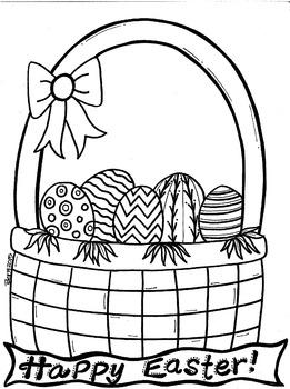 Easter Basket Coloring Sheet