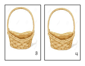 Easter - Basket Counting Mats #1-10