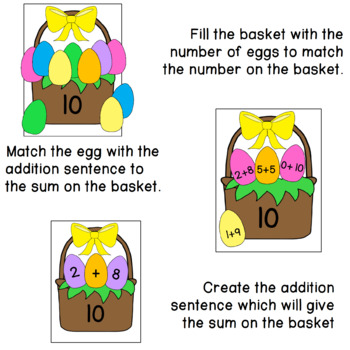 Easter Basket Counting and Addition
