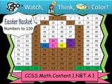 Easter Basket Hundreds Chart to 120 - Watch, Think, Color
