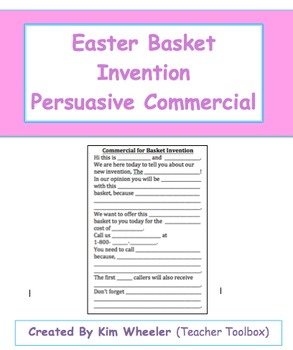 Easter Basket Invention Persuasive Commercial Template