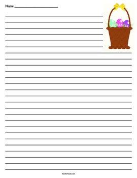 Easter Basket Lined Paper