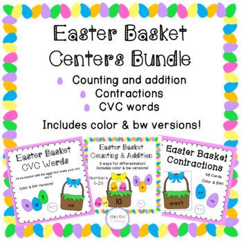Easter Basket Math and Literacy Center Bundle
