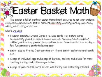 Easter Basket Math