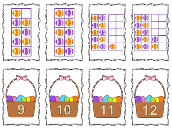 Easter Basket Number Match-Up  (Numbers 1 - 20)