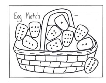 Easter Basket Number Set Color Word Match