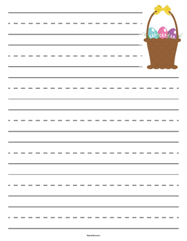 Easter Basket Primary Lined Paper