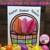 Easter Basket Speech Therapy Cut and Paste Activity for Articulation {Bunny}