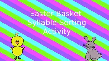 Easter Basket Syllable Sort