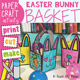 Easter Basket Template - Easter Bunny Treat Basket