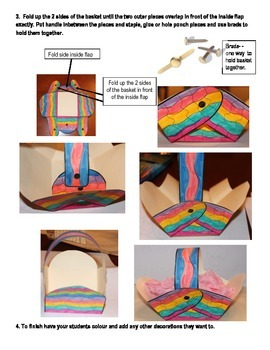 Easter Basket Template With Assembly Instructions