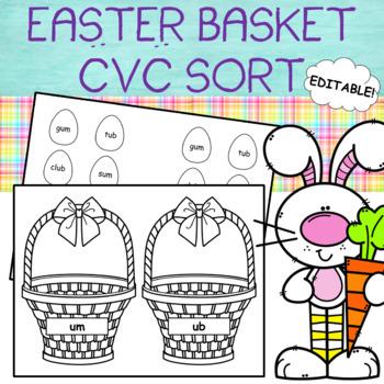 Easter Basket Word Sort - (Editable!)