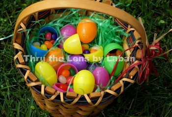 Easter Basket with Eggs and Jelly Beans Stock Photo #155