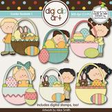 Easter Baskets 1 -  Digi Clip Art/Digital Stamps - CU Clip Art