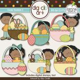 Easter Baskets 2 -  Digi Clip Art/Digital Stamps - CU Clip Art