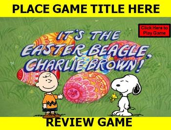 """Easter Beagle Charlie Brown """"PEANUTS"""" Holiday Review Game"""