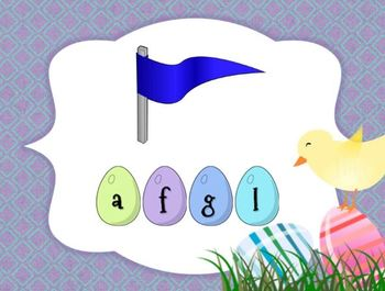 Easter Beginning Blends Game: Spelling CCVC Words (Smartboard/Promethean Board)