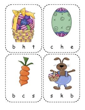 Easter Beginning Sounds Clip Cards