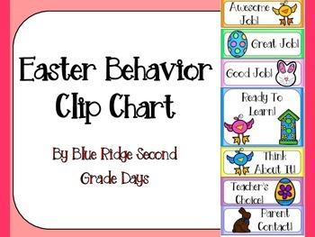 Easter Behavior Clip Chart