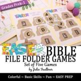 Easter Bible File Folder Games, Five Fun Games for Church