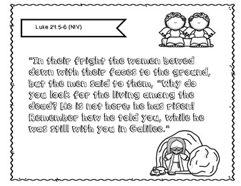 Easter Bible Lesson:Jesus is Risen (1st/2nd grade Series)