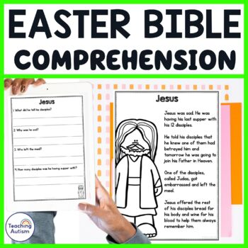 Easter Bible Story Reading Comprehension Passages and Questions