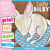 Easter Bilby on an Egg - Paper Craft for an Australian Easter