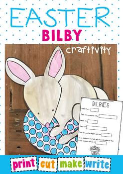 Easter Bilby on an Egg - Paper Craft for an Australian Easter