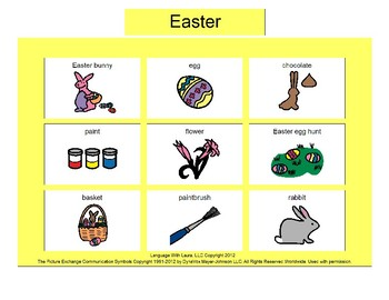 Easter Bingo! [speech therapy and autism]