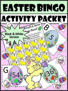 Easter Math Activities: Easter Bingo Game Activity Packet