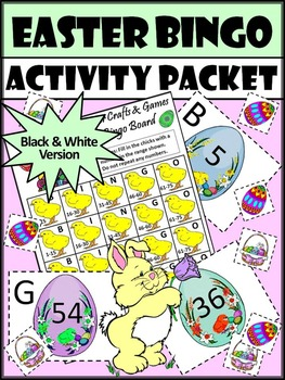 Easter Math Activities: Easter Bingo Game Activity Packet