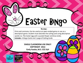 Easter Bingo (FREEBIE)