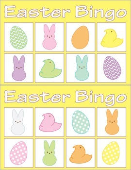 Easter Bingo (For Pre-K and Kindergarten)