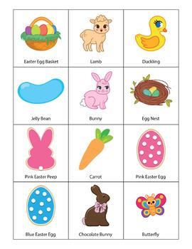 Easter Bingo Game - Easter Activities for Kindergarten