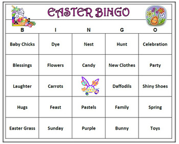 Easter Bingo Game- Celebrate Spring! Includes 60 Bingo Car