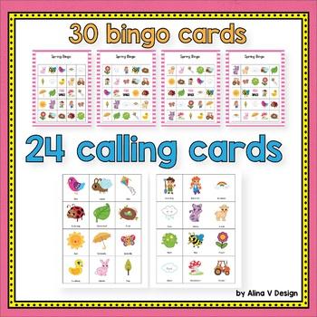 Spring Bingo Game - Spring Activities for Kindergarten