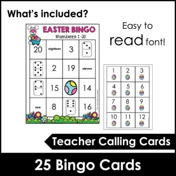 Easter Bingo Game - Numbers 1-20