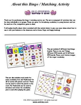 Easter Bingo / Matching Activity Set