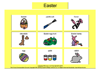 Easter Bingo! Multiple Boards [speech therapy and autism]