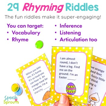 Easter Bingo Riddles Game