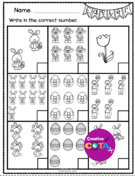 Easter Black and White Activities and Worksheets