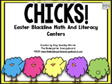 Easter Blackline Math And Literacy Centers