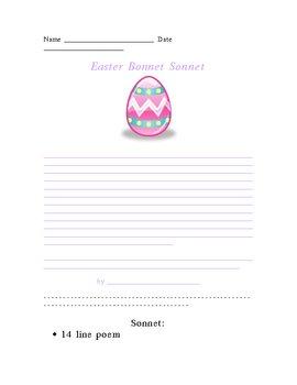 Easter Bonnet Sonnet Poetry Form