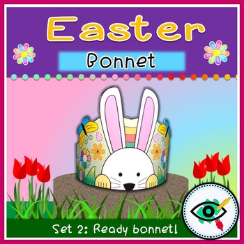 Easter Spring Bonnet coloring and ready to use printable