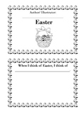 Blackline Easter Book For Young Children To Make When I think of Easter...