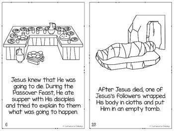 Bible Story Easter Book: Jesus's Death, Burial, and Resurrection (B & W Version)