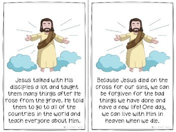 Bible Story Easter Book: Jesus's Death, Burial, and Resurrection (Color Version)