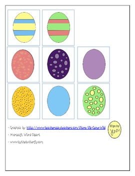 Easter Book with manipulatives