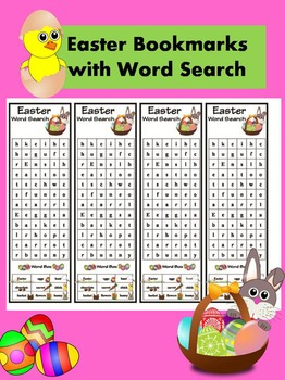 Easter Word Search Bookmark in Color